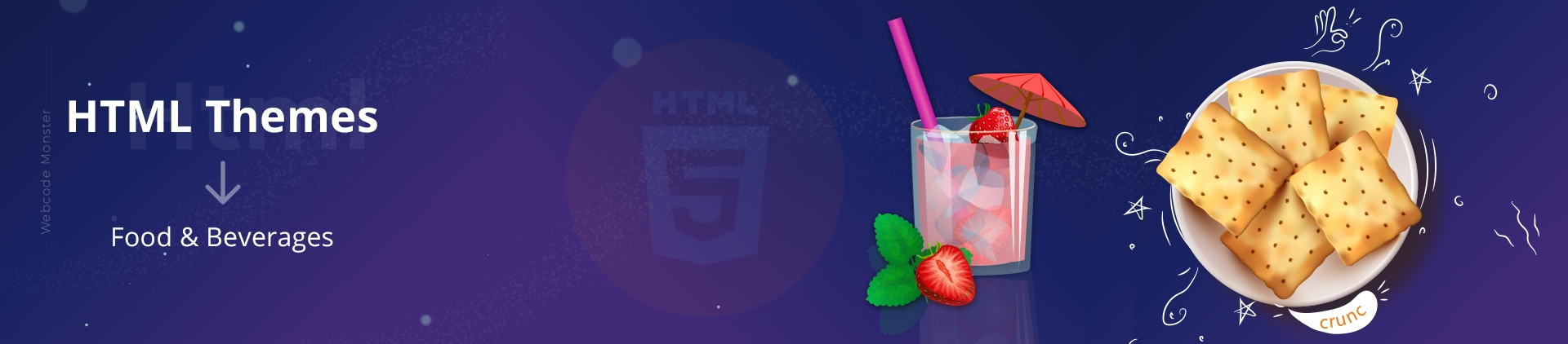 Food & Beverages HTML Website Templates - Webcodemonster