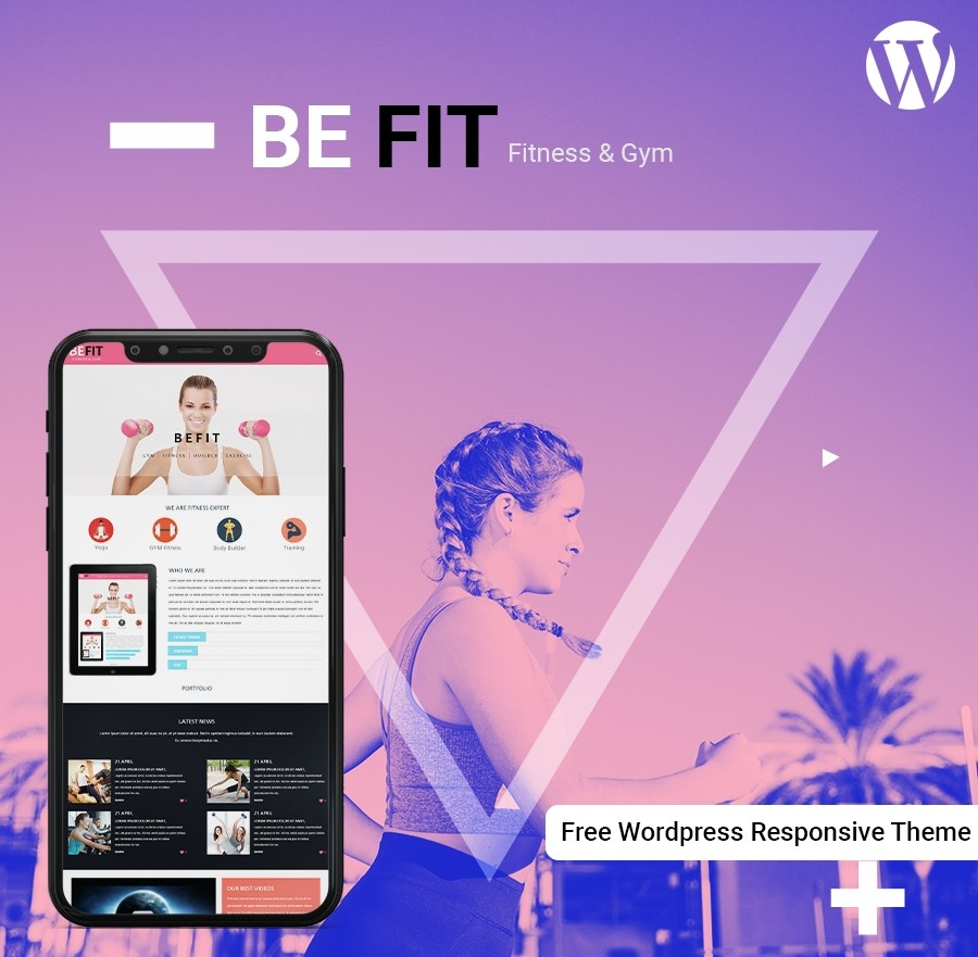 Free Fitness WordPress Template - Webcodemonster Website Templates