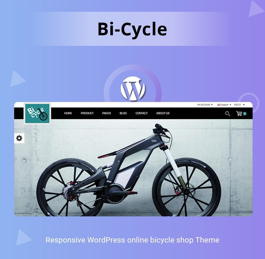 Bicycle WordPress Template - Webcodemonster PRO Themes