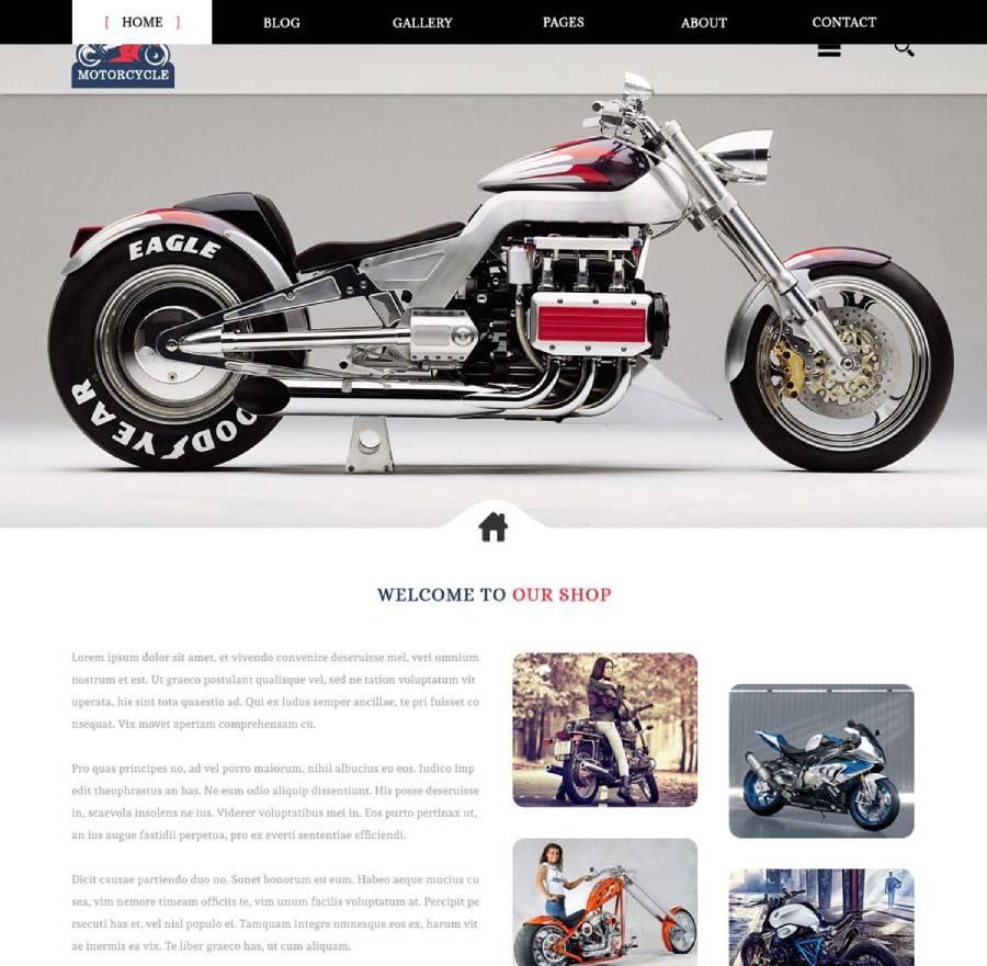 Bike WordPress Theme, Motorcycle WordPress Themes | WebcodeMonster
