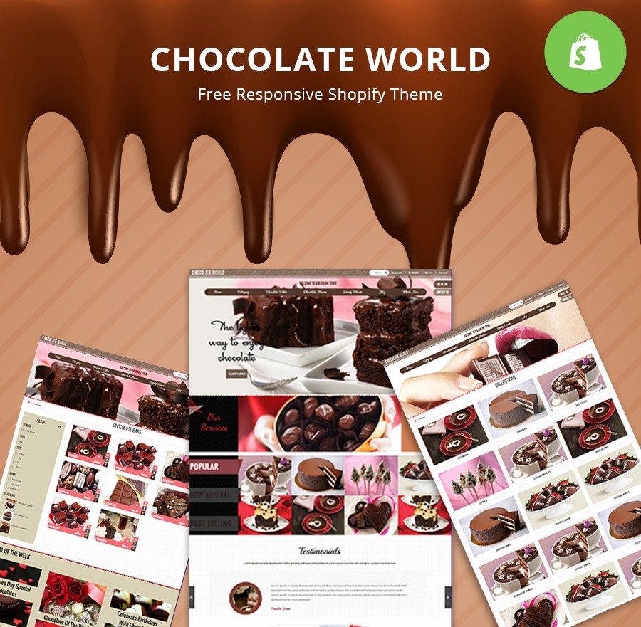 Free Shopify Chocolotae Store Theme - Webcodemonster