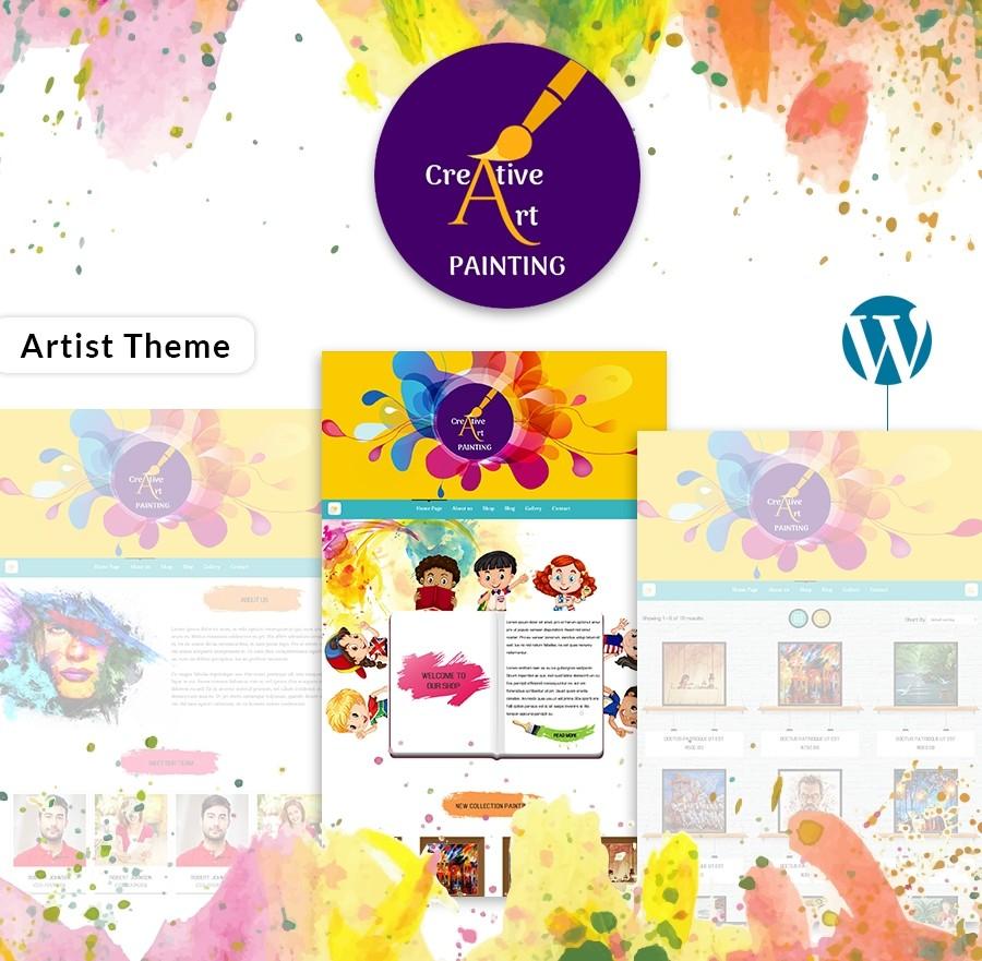 WordPress Themefor Artists- WebcodemonsterPRO Themes