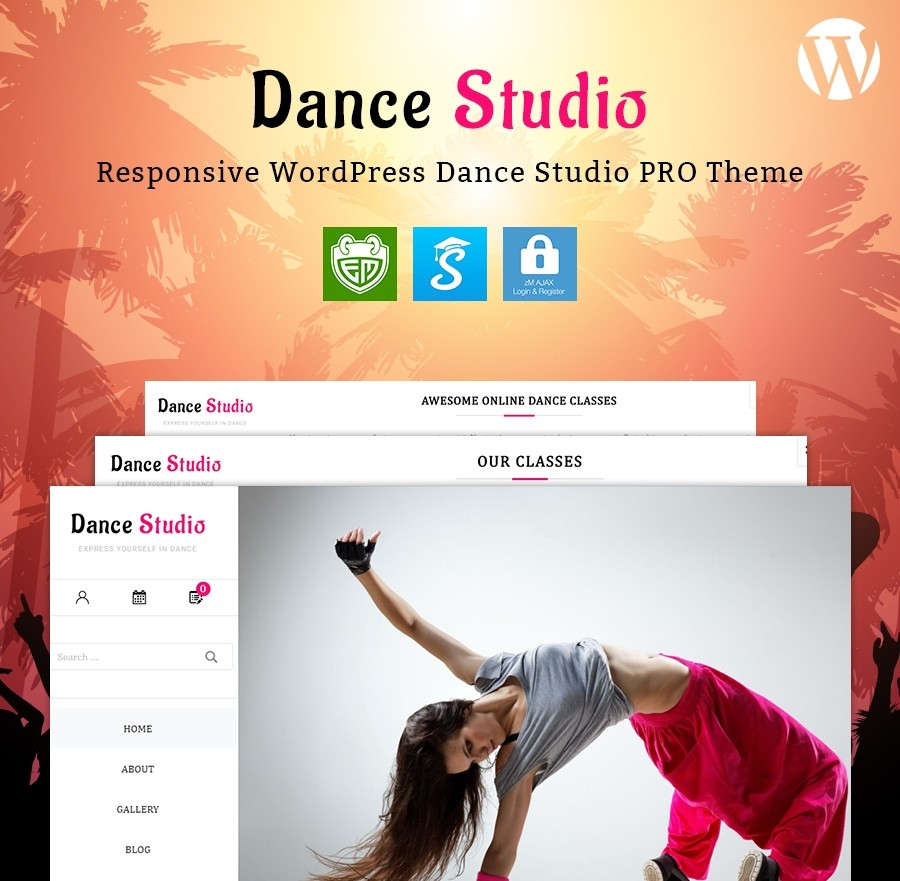 Dance Studio WordPress Theme - Webcodemonster PRO Themes