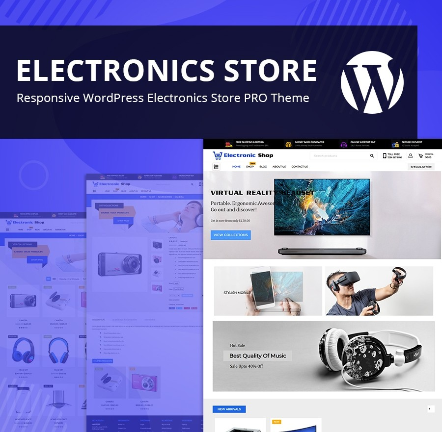 Responsive Electronics Store WordPress Theme - Webcodemonster PRO Themes
