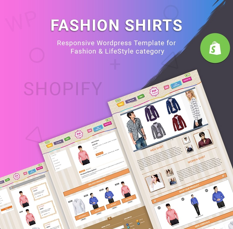 Free Fashion Shirts Website Template - Fashion & LifeStyle Shopify Theme