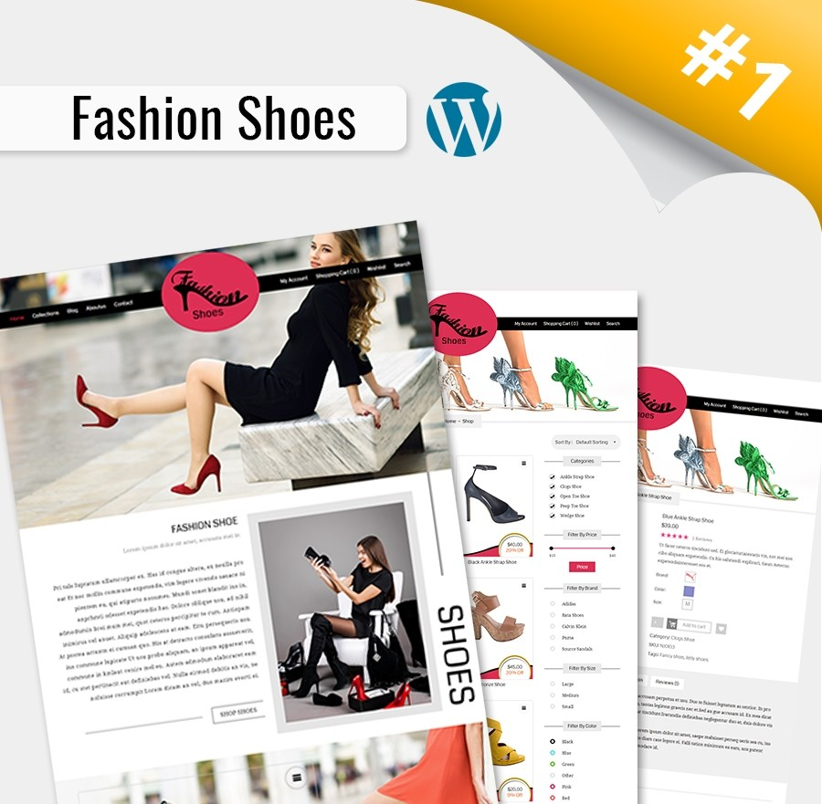 Shoes Website Templates, Fashion Shoes WordPress Theme | Webcodemonster