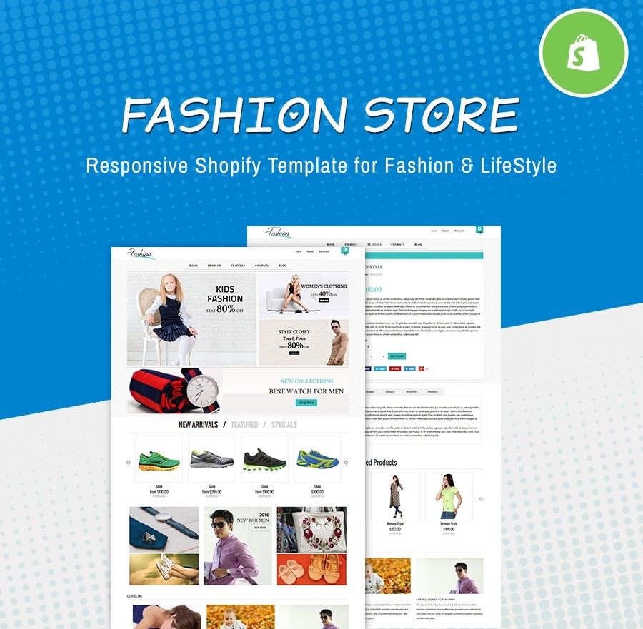 Free Fashion Website Template - Fashion & LifeStyle Shopify Themes