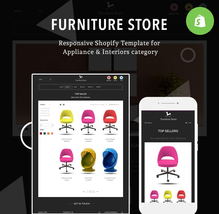 Free Shopify Template Furniture Store - Webcodemonster