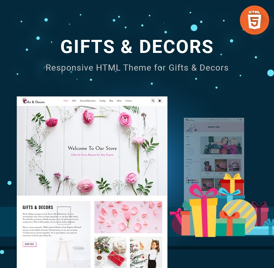 HTML Gifts & Decors Theme - Webcodemonster PRO Themes