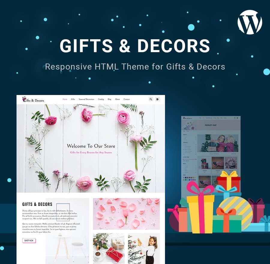 Gifts & Decors WordPress Theme - Webcodemonster PRO Themes