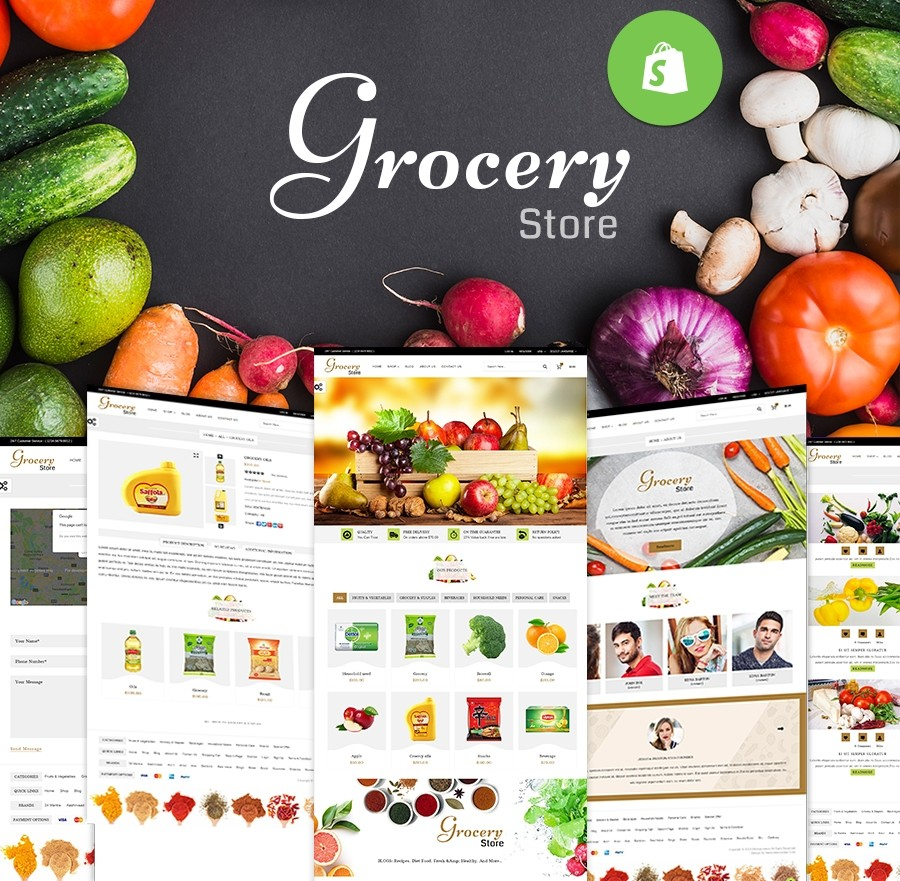 Responsive Shopify Grocery Store Theme - Webcodemonster PRO Themes