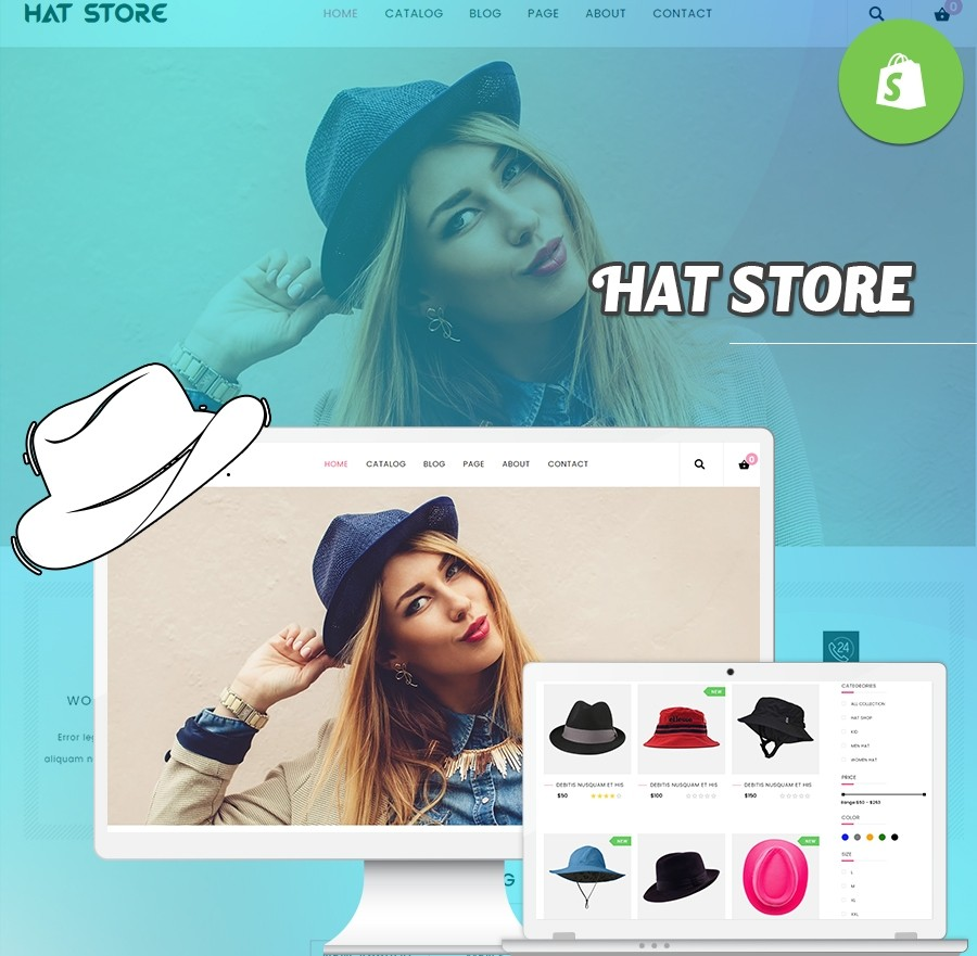 Hat Themes | Hat Store Templates - Webcodemonster PRO Themes
