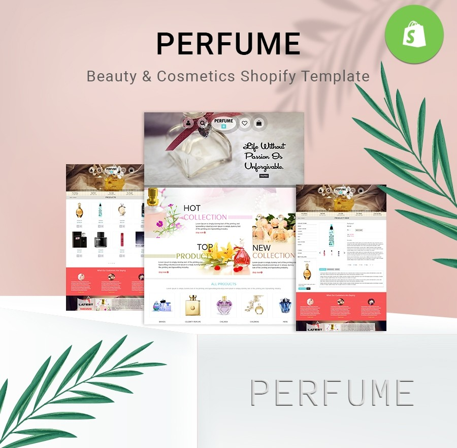 Free Perfume Website Templates, Perfume Shopify Themes | Webcodemonster