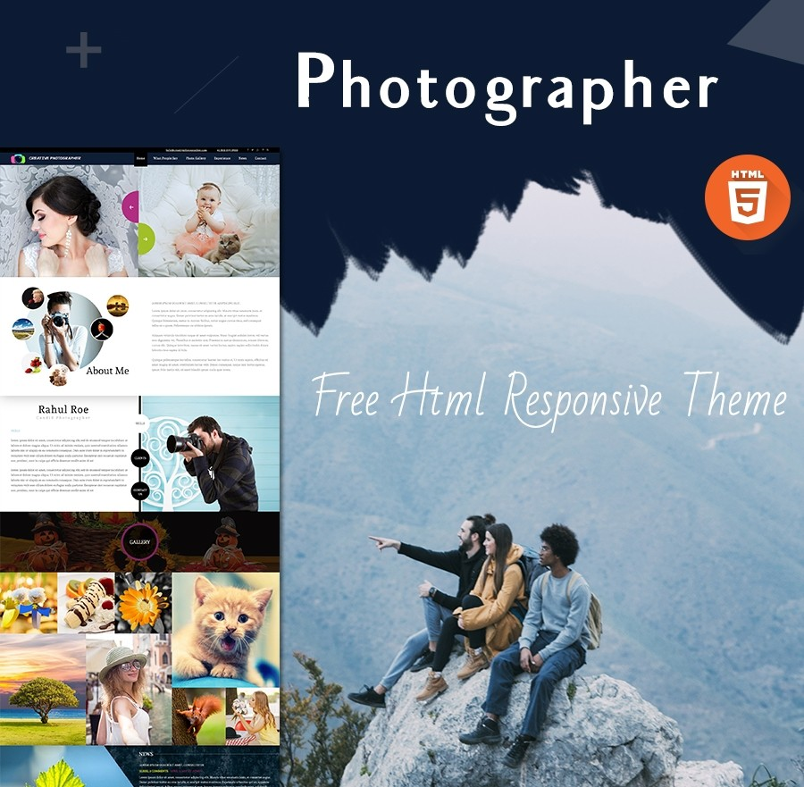 Free HTML Photography Theme | Photographer Theme - Webcodemonster