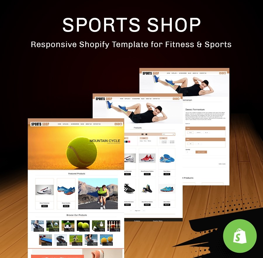 Sports Wear & Accessories Free Shopify Template - Webcodemonster