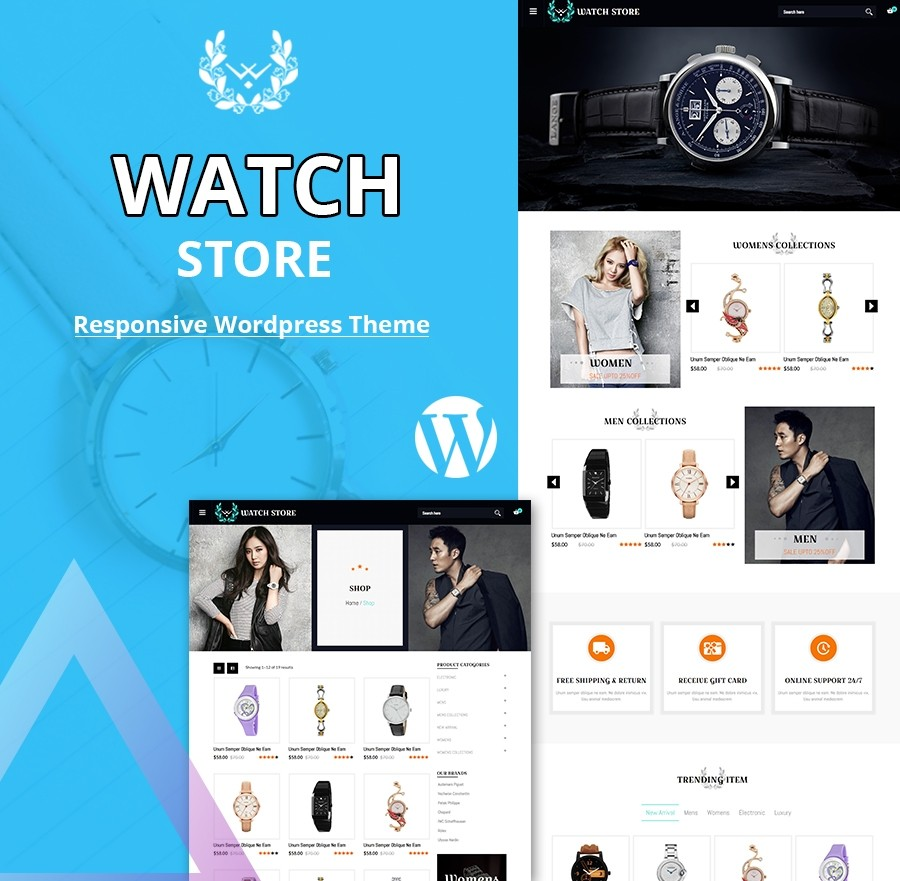 Free Watch WordPress Theme, Watch Store WordPress Theme