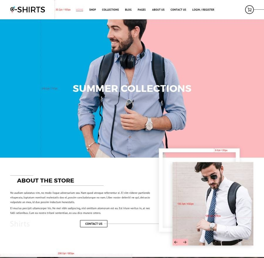 T Shirts Website Templates