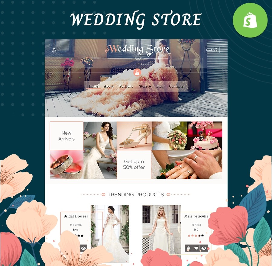 Wedding Bridal Accessories - Fashion & Lifestyle SHOPIFY TEMPLATE