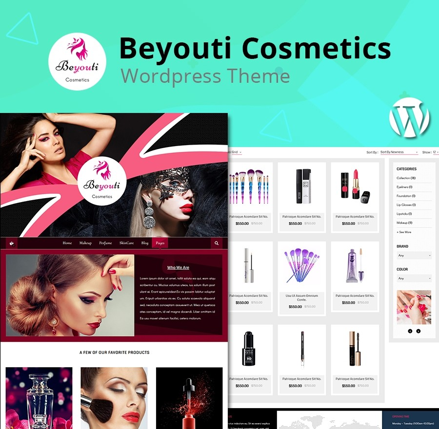 Cosmetics Beauty Shop WordPress Theme