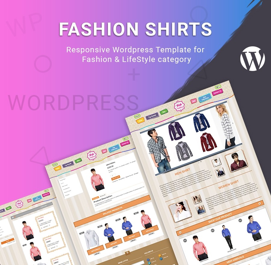 Fashion Shirts - Fashion & LifeStyle WORDPRESS TEMPLATE
