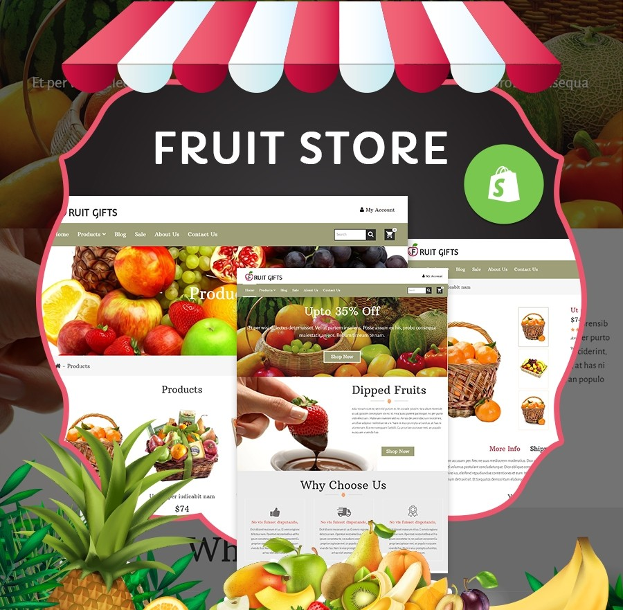 Shopify Theme Gifts Store for Food, Beverages & Fruits