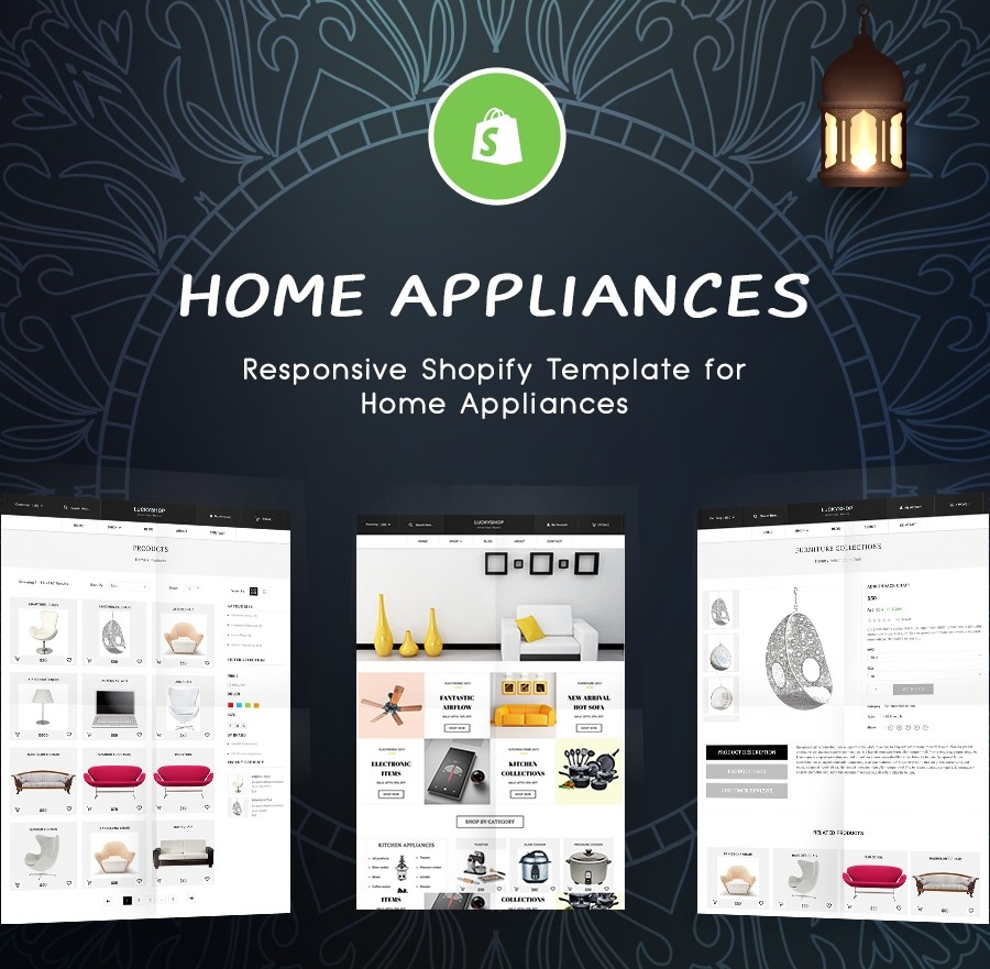 Home Appliances Shop Website Template - Shopify Theme