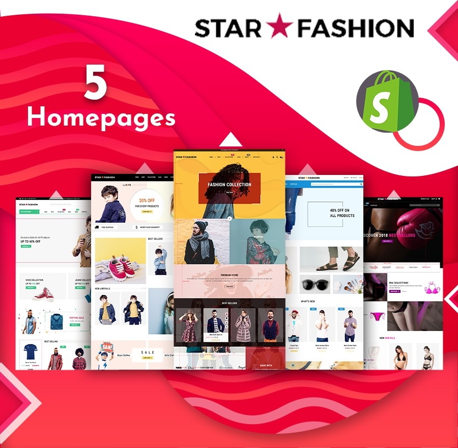Star Fashion & Clothing eCommerce Shopify Theme