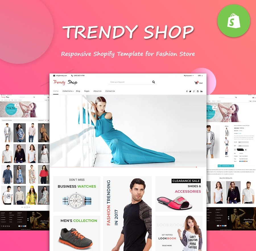 Trendy Fashion Store Website Template - Shopify Theme